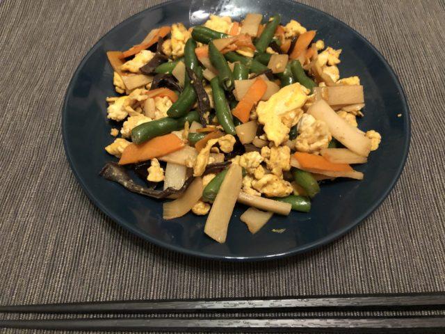 彩り野菜の中華炒め完成